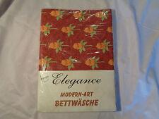 Elegance Bettwäsche Blume 2tlg. rot grau NEU OVP Baumwollmischung