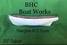 rc tug boat hull fiberglass 32x7-1/2