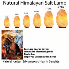 Best Quality Himalayan Salt Lamp Crystal Pink Salt Lamps Healing | Ionizing Lamp