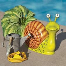 Whimsical Snail's Pace Hand Painted Male Mollusk Garden Deck Patio Statue