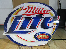 Miller Lite True Pilsner Neon Sign Face, Replacement Sign Face or Wall Sign