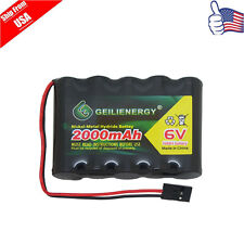 GeiLienergy 1pcs 6.0V 2000mAh Flat Receiver NiMH Battery For RC airplane Hitec