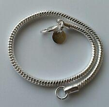 "Women's Mens Unisex 925 Sterling Silver Fit European Beads Bracelet 8"""