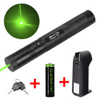 532nm Green Laser Pointer Pen Lazer 18650 Visible Beam Light w/ Battery &Charger