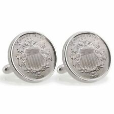 NEW Ohio State University 1870 Sterling Silver Nickel Coin Cuff Links 13236
