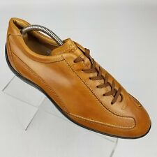 Tods Gommini Mens Driving Shoes Walnut Leather Sneakers Lace Up Size 9 / 10 US