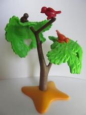 Playmobil Tree with small birds (yellow base) NEW Farm/dollshouse/forest scenery