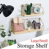 Wooden Metal Display Floating Plant Shelves Wall Shelf Wall-Mounted Storage Rack