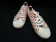 Auth PaulSmith Orange Pink Multi Canvas Suede Sneakers Men's #US 8