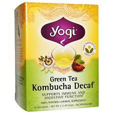 Yogi Tea Green Tea Kombucha Decaf 16 Tea Bags 1.12 Oz 32 G