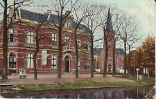 Netherlands Heerenveen - Herv. Kerk 1907 Donkerbroek cover mailed postcard