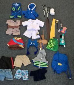 Large bundle Build a bear Boy shirt shorts shoes Crutches Star Wars Karate #554