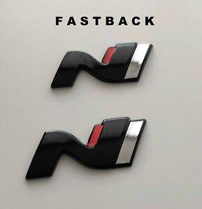 Hyundai i 30N N Symbol Set Cover hochglanz–schwarz blacked out Badge black