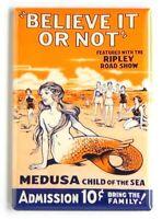 Medusa the Sexy Mermaid FRIDGE MAGNET freak show poster