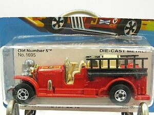 HOT WHEELS VHTF 1981 BLUE CARD SERIES OLD NUMBER 5