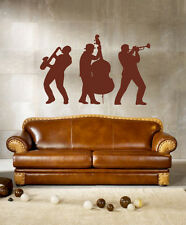 ik243 Wall Decal Sticker Decor jazz musicians saxophone bass trumpet music