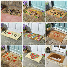 Natural Coir Non Slip Welcome Floor Entrance Door Mat Indoor Outdoor 75cm x 45cm