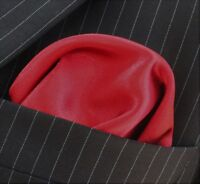 100/% SILK Pocket Square Handkerchief UK Made Blue /& Orange Paisley DBH-05