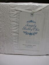 Simply Shabby Chic WHITE DELIGHT COLLECTION White Crochet Lace Sheet Set - Twin