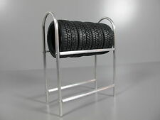 Aluminum Toy 1/10 Scale Silver Tire Rack for Tamiya HPI MST RC4WD RC Drift Tire
