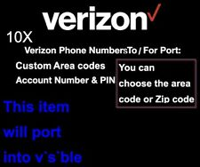 1x Verizon Phone Number To For Port- Random Local Number - Account Number, Pin