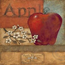 APPLE APPLE BLOSSOMS COASTERS SET OF 4 RUBBER BACKED