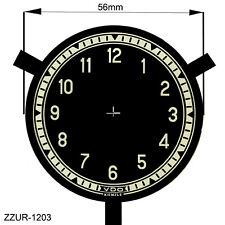 Uhren-Ziffernblatt,  Neutral,  schwarz, für VDO/Kienzle mit Krampen
