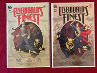 Elseworld's Finest 1-2 COMPLETE NM (Superman, Batman, Prestige)