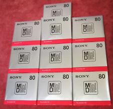 """10 """"Neue"""" Sony 80 min. Minidisc MDW80T"""
