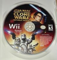 STAR WARS CLONE WARS REPUBLIC HEROES - Wii - GAME DISC ONLY - FREE S/H - (Y)