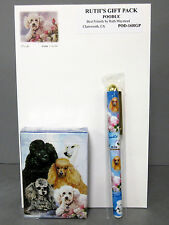New Poodle Dog Playing Card Pen & Note Pad Gift Set Poodles Dogs Ruth Maystead