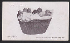 Los Angeles-California-Children's Home Society-Babies From Nursery-Antique Card