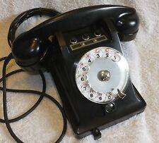 L@@K - RARE - French U43 1+2 - 1961 Rotary Dial, Desk Telephone - Black Bakelite