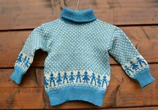 Hand knit Boys Wool Norway sweater Size 4-5
