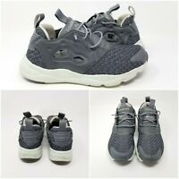 Reebok Grey Woven Knit Mid Running Athletic Shoes Sneakers Low Womens Size 7