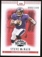2007 Topps Triple Threads Steve McNair #19 Baltimore Ravens /1449