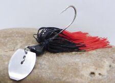 Shaky Blade-Vibrating Swim Jig Black Red Firetip HIO081