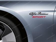 2 x Alfa Romeo Sport Stickers for Wings 147 159 GT Giulia Mito Guiletta Stelvio