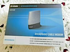 NEW D-Link DCM-202 Broadband Cable Modem Internet Windows Sealed Box w/cables