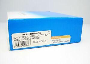 Plantronics .Audio 1100M USB Handset for Microsoft Lync & MOC 57700.001 New Box