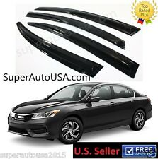 JDM MUGEN STYLE SMOKE WINDOW VISOR RAIN/SUN VENT SHADE FOR 2013-2017 9TH ACCORD