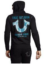 $189 Authentic Rare TRUE RELIGION Men's Big Horseshoe Zip Up Hoodie Sweater