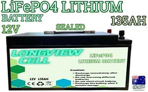 12V 135Ah Lithium Ion Battery LiFePO4 Deep Cycle Rechargeable Solar Camping 4wd