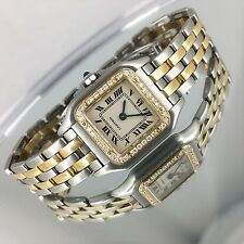 CARTIER PANTHERE W/DIAMONDS watch Stainless 18KGold Watch CARTIER PANTHERE w/Box