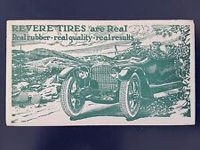 1918 Perry, NY advertising cover Revere Tires
