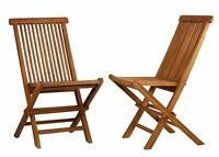 TeakWood indoor-outdoor Folding Art Chair (Set of 2 chairs)