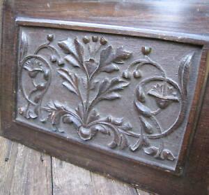 Old Ornate Wood Panel