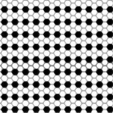 SCORE BLACK & WHITE GEO SOCCER BALL PATTERN FABRIC