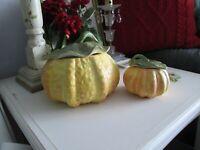 Italian NOVE San Marco & CB Hand Painted Pumpkins Bowl Tureen Serving Dish Matte