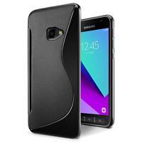 Handy Hülle Samsung Galaxy XCover 4 Silikon Case Slim Cover Schutz Hülle Tasche